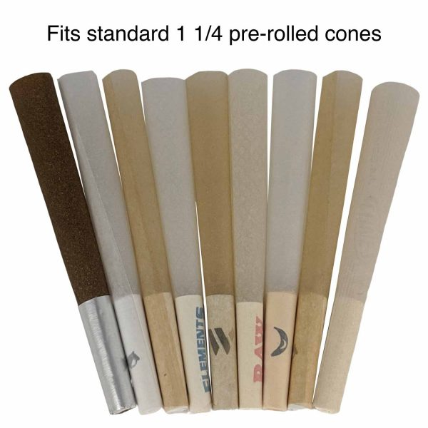 packNpuff Works with Standard Sized 1 1/4 Pre Rolled Cones